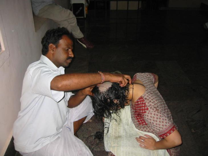Venkateswara Temple head shave