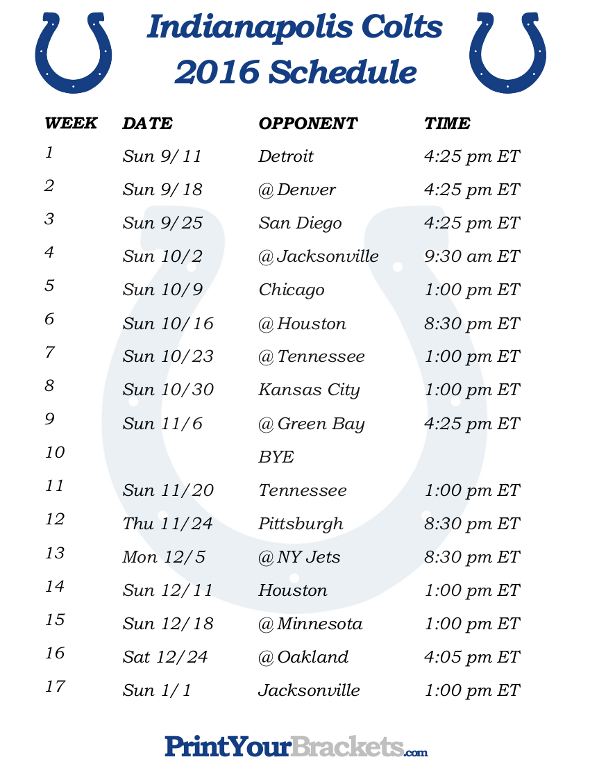 Canny image pertaining to colts schedule printable